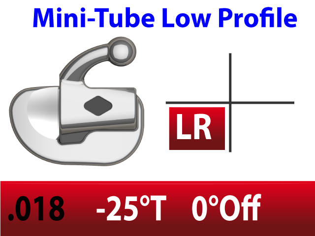 Mini Tube .018 LR  -25°Torq  0°Off 2.5mm - 10/pk